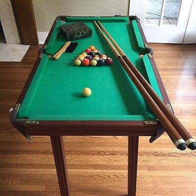 VINTAGE BROOKSTONE POOL Table Mini Billiards Toy Vintage W Legs - Brunswick brookstone ii pool table