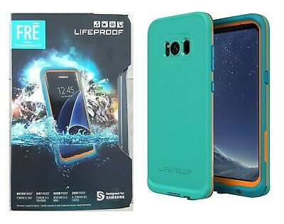 Lifeproof FRE Case WaterProof for Samsung Galaxy S8 Sunset Bay Teal Blue NEW