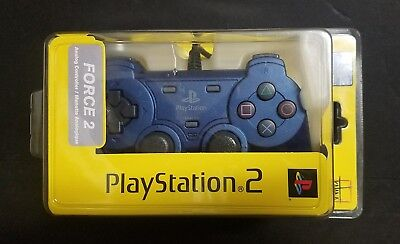 PlayStation 2 Force 2 Katana Blue Controller - Sealed PS2 Brand New