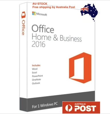Microsoft Office 2016 Home and Business With Product Key + DVD FULL VERSION