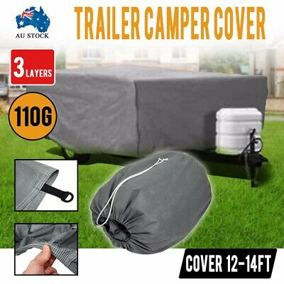 Trailer Camper Cover UV Protection Waterproof Polypropylen Fold Fabric 12-14FT