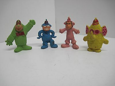 Vintage Banana Splits Rubber Figure Set Rare 1968 Fleegle Bingo Drooper Snorky