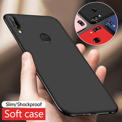 For Huawei Honor 7A 8X 9 10 Lite Play Shockproof Matte Slim Soft TPU Case Cover