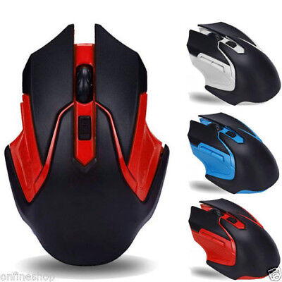 2.4Ghz 3200DPI 6 Keys Wireless Optical Gaming Mouse Mice For Laptop Computer PC