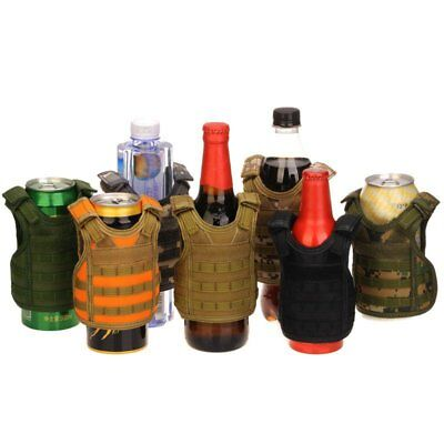 Molle Tactical Beer Bottle Vest Soda Cooler Mini Airsoft Cover Model Cup Decor
