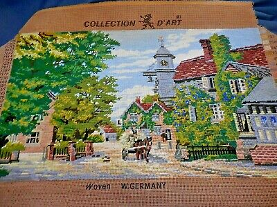 Tapestry Collection D'art 1226  Horse & Cart In Town