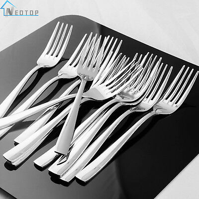 Dinner Forks Set 12 Piece Heavy Duty Tableware Cutlery Flatware Stainless Steel