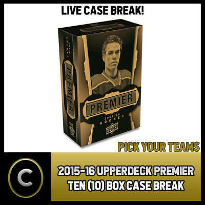 2015-16 Upper Deck Premier10 Box (Full Master Case) Break #H047 - Pick Your Team