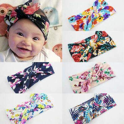 1PC Toddler Flower Bow Turban Knot Headband Hair Band Accessories For Baby Girl