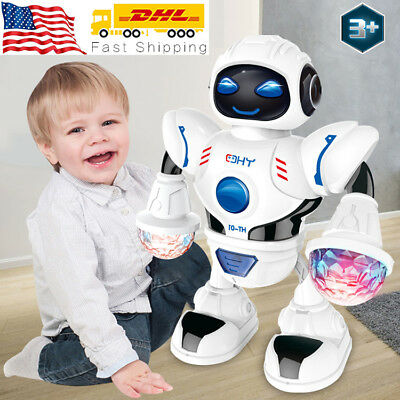 Toys for Kids Boys Walking Musical Robot Laser Hand So Cute Cool Baby Xmas Gift