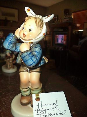 Vintage Hummel Figurine Boy With Toothache Vintage Piece Pottery
