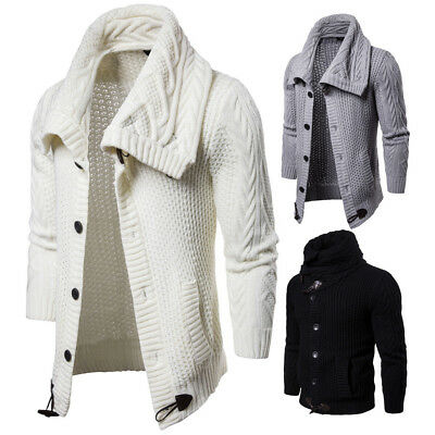 New Men's Knitted Cardigan Sweaters Knitwear Casual Sweater Coat Jacket