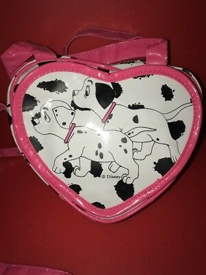 Disney 101 Dalmations Vintage Purse Heart Shape With Mirror Disney Purse