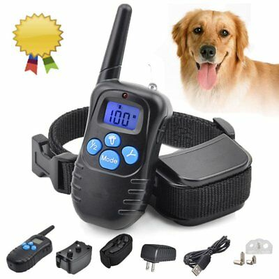 Pet Train Rechargeable LCD Electric Remote Dog Training Shock Collars Waterproof