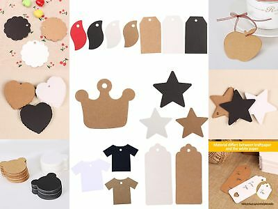 10Style DIY Kraft paper Hang Tags Wedding Party Favor Label Price Gift Card 2018