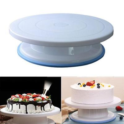 28CM Rotating Cake Decorating Revolving Kitchen Display Stand Turntable HOT