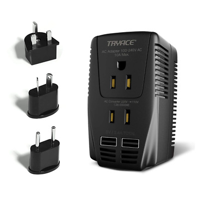 2000W Voltage Converter 2 USB Ports Set Down 220V to 110V Power for Transformer