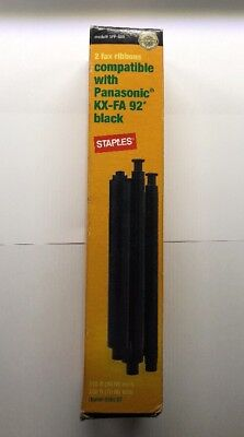 New Staples Fax Ribbons For Panasonic KX-FA 92 Black Model# SFP-60R-US
