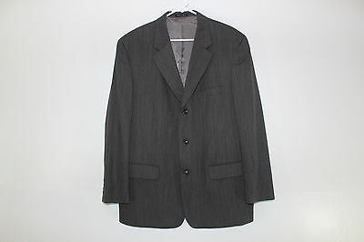 Alfani Mens Size 44 R Gray Charcoal Wool Blend 3 Button Blazer Suit Jacket Coat