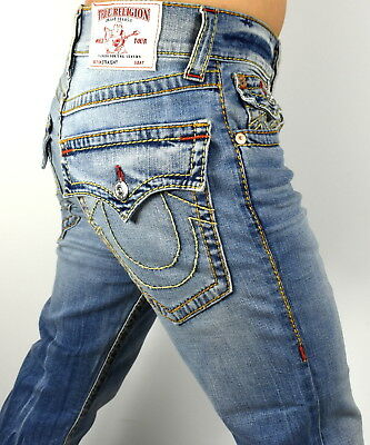 True Religion $249 Men's Hand Picked Straight Red Big T Jeans - 100093