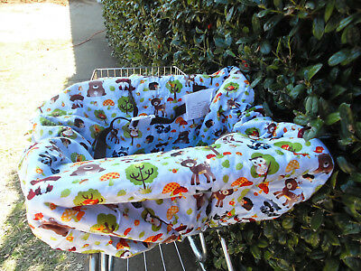 Woodland animals print shopping cart cover/high cover-handmade