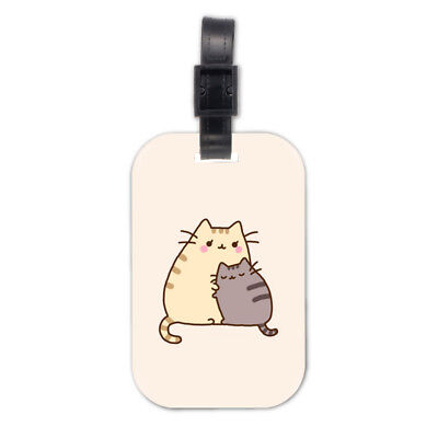 Cat Mon And Son Wood Travel Bag Luggage Tag