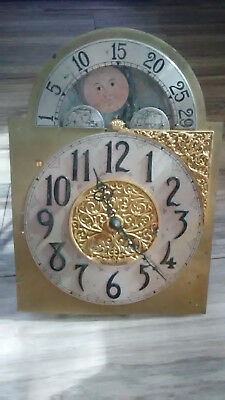 Herschede Grandfather Clock Face Movement Only- Clock Movement Lot #1