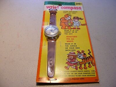 Vintage 'New Old Stock' Toy Wrist Compass(1960's)
