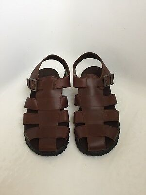 Kenneth Cole Reaction Youth Boys Brown Leather Sandals - Size 4 NWOB