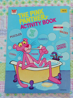 Vintage 1979 Whitman The Pink Panther Activity Book UNUSED Crossword Puzzles USA