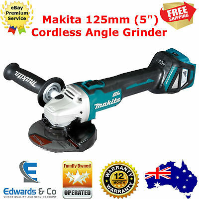 "Makita Cordless Angle Grinder 125mm Brushless Disc 5"" Tool 18V"