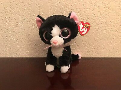 """Retired *Pepper* ~2011 Ty Beanie Boo~ 6"""" Cat~ Sparkle Eyes! Red Hang Tag! MWMT!"""