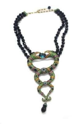 Heidi Daus Spellbinding Snake Beaded Drop Necklace SWAROVSKI CRYSTALS RET $400
