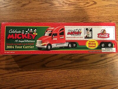 COCA-COLA //MICKEY MOUSE 2004 TOUR CARRIER 75 INSPEARATIONS TRUCK NEW MIB
