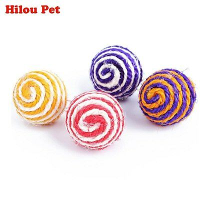 Cat Scratch Catch Toy Sisal Rope Woven Ball Teaser Chewing Rattle Playing Toys