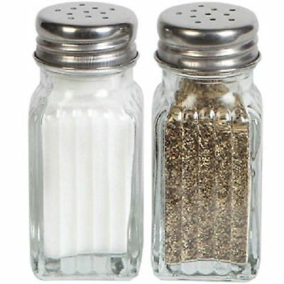 Glass Salt and Pepper Shakers, 2-ct by Greenbrier - Brand New with Free Shipping