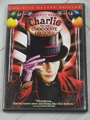 Charlie and the Chocolate Factory DVD, 2005, 2-Disc Set, Widescreen Deluxe Edit