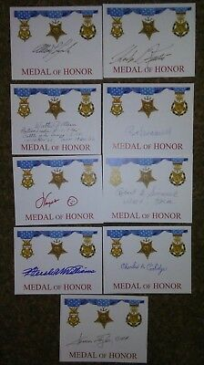 Medal of Honor Receivers autographs
