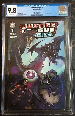 Justice League #1 CGC 9.8 Clayton Crain Brave and The Bold 28 Homage Variant