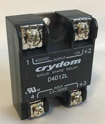 Crydom Solid State Relay D4D12L 400VDC/12A Output 3.5-32VDC Input NEW