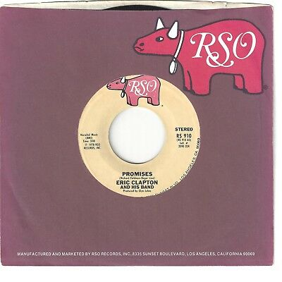 ERIC CLAPTON 45  Promises / Watch Out For Lucy - NM