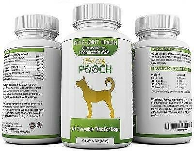 Glucosamine Chondroitin MSM for Dogs Joint Hip Supplement and Support Chews - 60