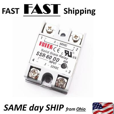 60A solid state relay ,input 3-32 VDC output 5-60 VDC - - 60A AMP MAX.