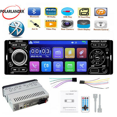 "4"" 1 Din Car Stereo Radio USB AUX Touch Screen Bluetooth  Mirror Link MP5 Player"