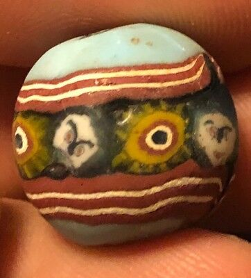 Old Antique Vintage Phoenician Bead Person Glass Rare? Antiquity Artifact
