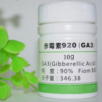 10 grams 99% Pure Gibberellic acid GA3 Kit With Instructions BR Biological Grade