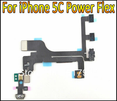 Power Mute Volume Control Button Switch Connector Flex Cable for iPhone 5C