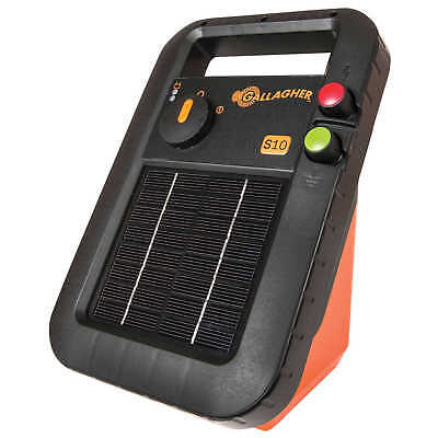 Gallagher G34110 S10 Solar Power Energiser 0.10 Joules Electric Fencing