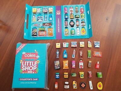 Coles Little Shop FREE POSTAGE unopened, opened INDIVIDUAL NEW CASE or SET