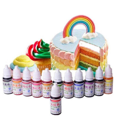 10ML Pigment Food Coloring Edible Color Baking Ingredients Cake Decorating